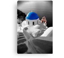 'Blue Domes' - Greek Orthodox Churches of the Greek Cyclades Islands - 10 Canvas Print