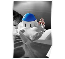 'Blue Domes' - Greek Orthodox Churches of the Greek Cyclades Islands - 10 Poster