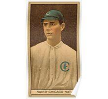 Benjamin K Edwards Collection Victor Saier Chicago Cubs baseball card portrait Poster