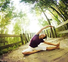Yoga asana in the park, Spiritual Practice by Wari Om  Yoga Photography
