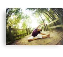 Yoga asana in the park, Spiritual Practice Metal Print