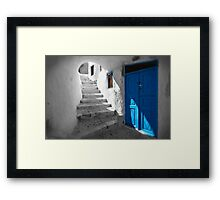 'Blue Domes' - Greek Orthodox Churches of the Greek Cyclades Islands - 11 Framed Print