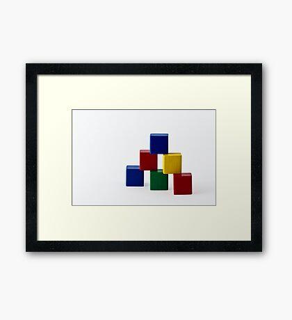 Elementary Colors Framed Print