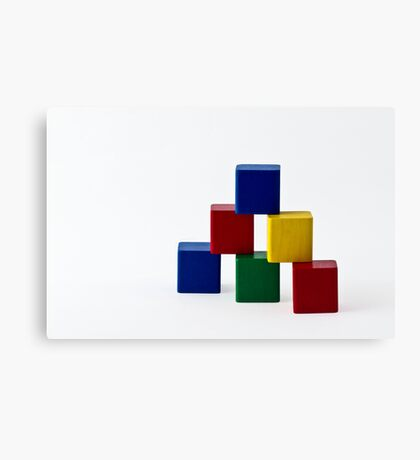 Elementary Colors Canvas Print