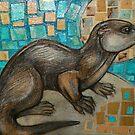 Portrait of a Sea Otter by Lynnette Shelley