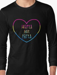 Hearts not Parts Pansexual pride Long Sleeve T-Shirt