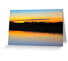 Fading late December light over the River Tees Greeting Card