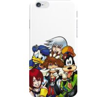 Kingdom Hearts - Sora, Riku, Kairi, Goofy & Donald iPhone Case/Skin