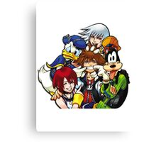Kingdom Hearts - Sora, Riku, Kairi, Goofy & Donald Canvas Print