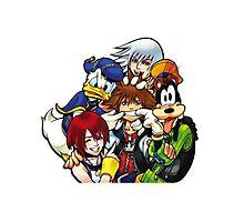 Kingdom Hearts - Sora, Riku, Kairi, Goofy & Donald Photographic Print