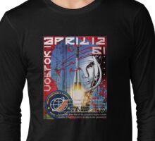 yuri gagarin april 12, 1961 Long Sleeve T-Shirt
