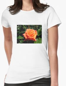 BEAUTIFUL PEACH ROSE Womens Fitted T-Shirt