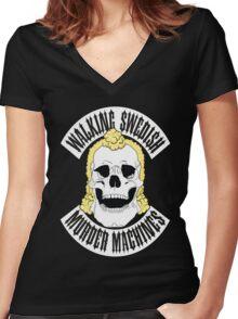 Walking Swedish Murder Machine MC Women's Fitted V-Neck T-Shirt