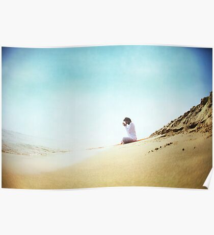 Prayer position, Yoga by the beach Poster