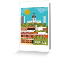 Columbia, South Carolina - Skyline Illustration by Loose Petals Greeting Card