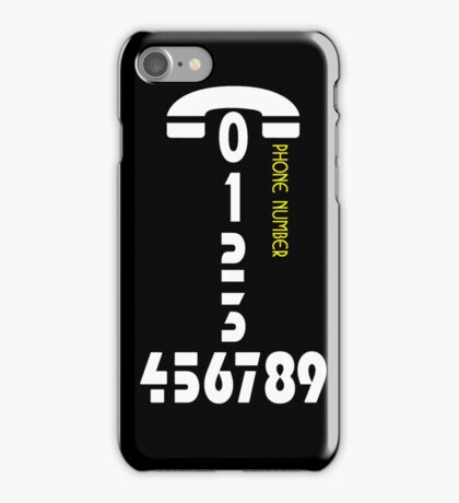 Phone number - case iPhone Case/Skin