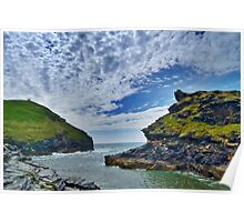 Boscastle harbour inlet Poster