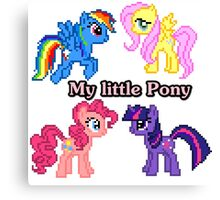 8-bit My little Pony <3  Canvas Print