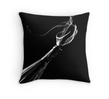 the genie in the bottle Throw Pillow