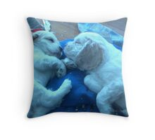 Beatrice and Duncan Cocker Spaniel pups Throw Pillow