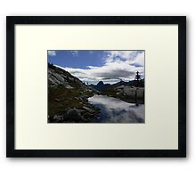 Tuck and Robin Lake in July Framed Print
