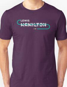 F1 Driver: Lewis Hamilton Typography Design T-Shirt