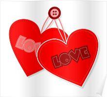 Retro heart design  Poster