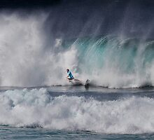 Kieren Perrow At Billabong Pipe Masters In Memory of Andy Irons 2011 by Alex Preiss