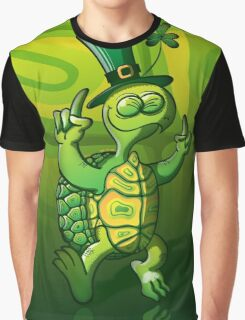 Saint Patrick's Day Turtle Graphic T-Shirt