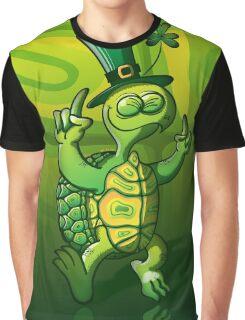 Saint Patrick's Day Turtle Graphic T-Shirt