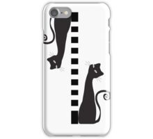Two black cats - case iPhone Case/Skin