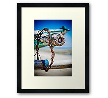 Boat in Be Asu (Viqueque) Framed Print