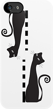 Two black cat - case by Nhan Ngo