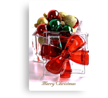 Merry Christmas - Gift Boxed Baubles Canvas Print