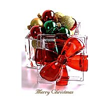 Merry Christmas - Gift Boxed Baubles Photographic Print
