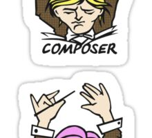 PHP Composer in 6 hair colors Sticker