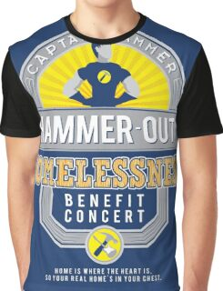 Hammer-Out Homelessness Graphic T-Shirt