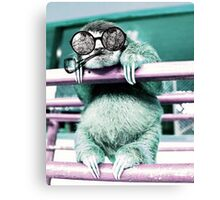 The One With The Hipster Sloth Canvas Print
