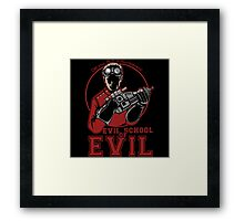 Dr. Horrible's Evil School of Evil Framed Print