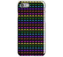 Rainbow Space Invaders iPhone Case/Skin