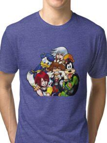 Kingdom Hearts - Sora, Riku, Kairi, Goofy & Donald Tri-blend T-Shirt