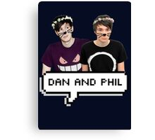 Dan and Phil - Flower Text Canvas Print