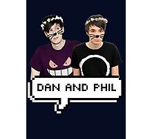 Dan and Phil - Flower Text Photographic Print