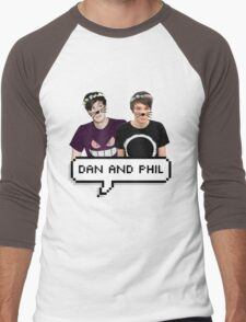 Dan and Phil - Flower Text Men's Baseball ¾ T-Shirt