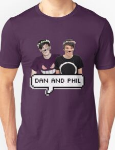 Dan and Phil - Flower Text T-Shirt