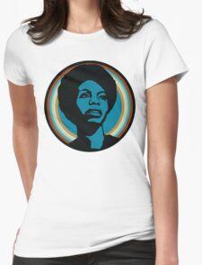 nina simone Womens Fitted T-Shirt
