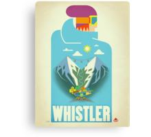 """Blue Bird"" Whistler, BC Travel Poster Canvas Print"