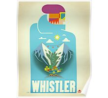 """Blue Bird"" Whistler, BC Travel Poster Poster"