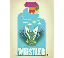 """Blue Bird"" Whistler, BC Travel Poster Photographic Print"