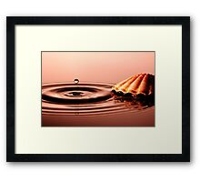 Pearl of Water Framed Print
